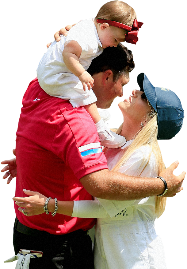 Patrick Reed and his family.
