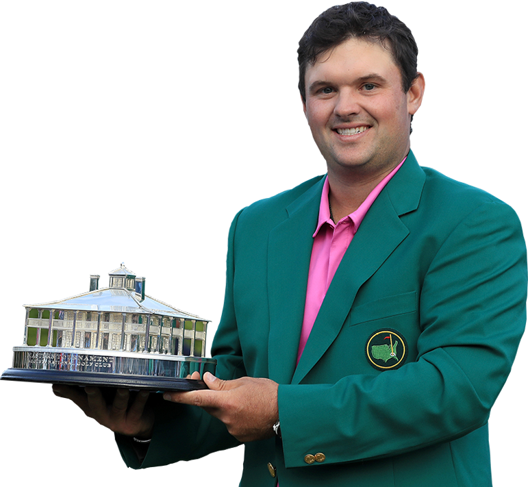 Patrick Reed with Trophy